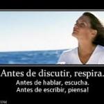 ANTES DE DISCUTIR RESPIRA