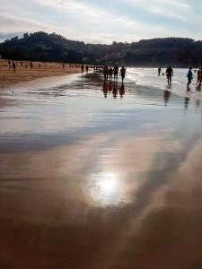 playa y agua